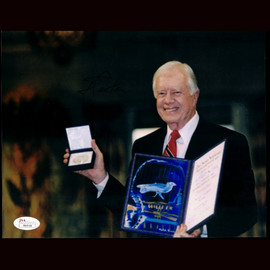 Certified President Jimmy Carter hand signed 8X10 photo Autographed Nobel Prize