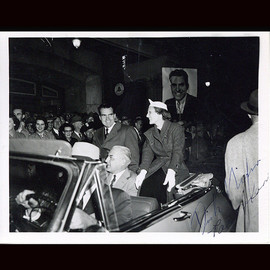 """Certified President Richard Nixon and Wife Pat Nixon Dual Signed 4"""" x 6"""" Election Night Photo Autograph"""