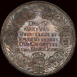 MS65 1730 German Nurnburg 200 Anniversary Augsburg Confession Silver Medal