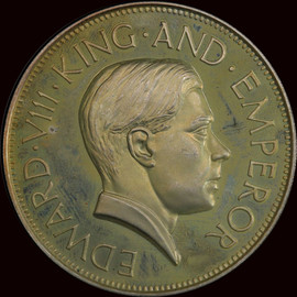 PR64 1937 Dated Great Britain Edward VIII Silver Crown - highest and only