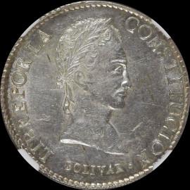 MS60 1841 PTS-LR Bolivia Republic 8 Soles