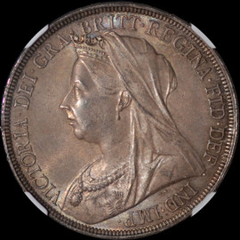 MS63 1897 Great Britain Queen Victoria Silver Crown toned