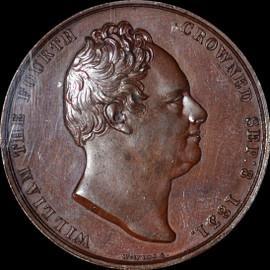 SP63 1831 GREAT BRITAIN Bronze Medal Coronation of William IV Eimer-1251