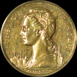 SP64 1953 Madagascar, 10 Francs, Paris, Piedfort, ESSAI