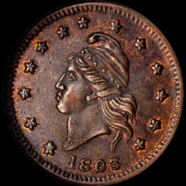 MS63 BN 1863 CIVIL WAR F-6/268 a UNION FOR EVER TOKEN