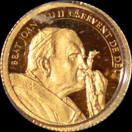 PR69 DCAM 2011 Andorra John Paul II Diner Gold Denomination