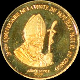 PR68 DCAM 2000 Congo Dem Rep John Paul II 20 Francs Gold Denomination