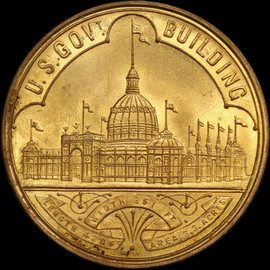 MS64 1893 World's Columbian Expo Official Medal - HK-154,  US Mint Medal