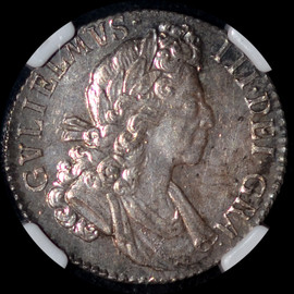 MS61 1700 Great Britain  William III Silver Shilling