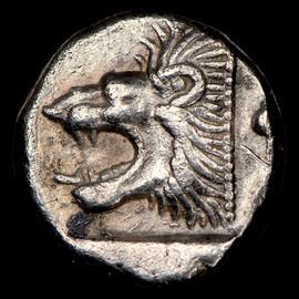 VF MYSIA Cyzicus Ca. 5th century BC. AR hemiobol (9mm, 8h)