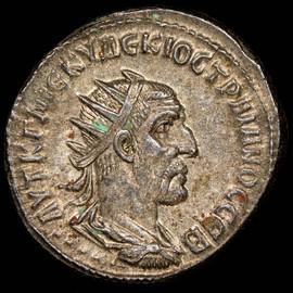 MS 5/5 - 3/5. (AD 249-251) SYRIA. Antioch. Trajan Decius BI tetradrachm (27mm,11.61gm, 7h).