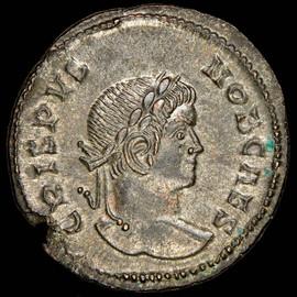 MS 5/5 - 4/5 (AD 316-326) Roman Empire Crispus as Caesar AE3 or BI nummus (19mm, 3.41 gm, 11h)