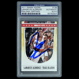 Certified 2011 Panini #198 LaMarcus Aldridge Signed Basketball trading card