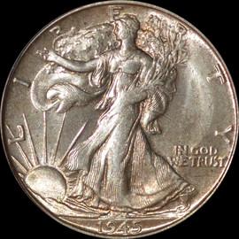 MS65 1945-S  US Walking Liberty Half Dollar