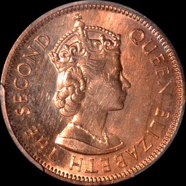 SP63 RD 1971 Mauritius 2 Cents Ex- King Norton Mint Collection