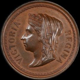 SP63 1887 Great Britain Queen Victoria Golden Jubilee Medal - Finest graded