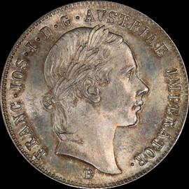 MS64 1856-B AUSTRIA Franz Joseph I  Silver 20 kreuzer, Kremnica mint, Highest Graded