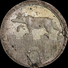 MS64 1822 Germany ANHALT-BERNBURG Alexius Friedrich Christian Silver 1/24 thaler - Single Finest