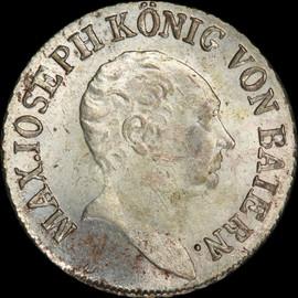 MS64 1813 Germany BAVARIA Maximilian I Joseph AR 6 kreuzer - Single Finest!
