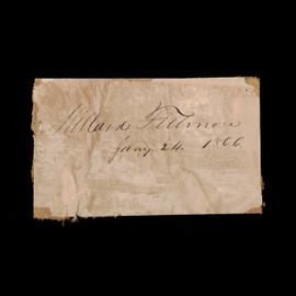 Certified 13th US President Millard Fillmore Cut Signature Autograph