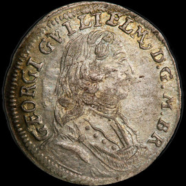 MS63 1713 Germany GBRANDENBURG-BAYREUTH Georg Wilhelm Silver kreuzer - Single Finest