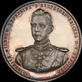 SP62 1900 Germany PRUSSIA Birthday and coming of age of Crown Prince Wilhelm Silver medal