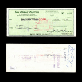 Certified Jack Haley Wizard of Oz Tin Man Signed Autographed Check