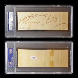 Certified Great Britain King William IV Signature Autograph Cut slabbed