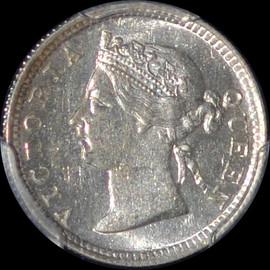 MS63 1898 Hong Kong Silver 5 Cents