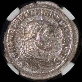 MS, Strike 4/5, Surface 4/5  AD 305-311 Galerius  Bl Aurelianianus .