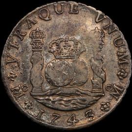 VF 1743/2 Mo MF Mexico 8 Reales