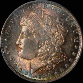 MS 65 1883-O Morgan Dollar GREAT Toning Obverse and Reverse