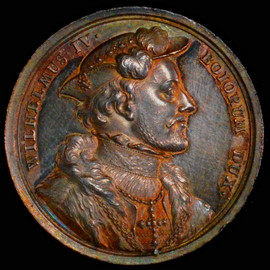 1550 Germany Bavaria, William IV.  Silver Suite Medal. (Struck 1760-1770)