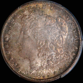MS65 1899-O Morgan Dollar - Toned Obverse and Reverse