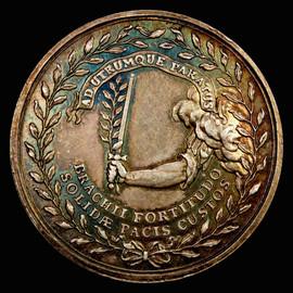 1783 NETHERLANDS UTRECHT silver medal (13.31g),  EF-AU