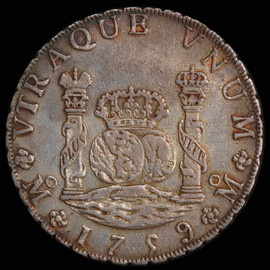 AU 1759-Mo MM MEXICO Ferdinand VI Silver 8 Reales, Mexico City Mint.