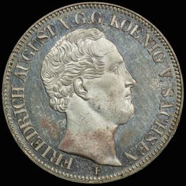 MS62 1852-F German States Saxony  Friedrich August II Taler  Single Finest !!!
