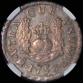 MS61 1753 Mo-M Mexico Ferdinand VI Silver Real