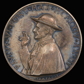 SP64 1964 Vatican City Paul VI Specimen Medal Anno III - Rinaldi-160