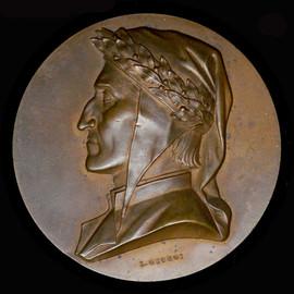 1921 6th Centenary of Dante Alighieri Commemorative Medal by Engraver  L. Giorgi  Signed