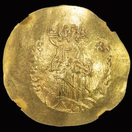 MS 1195-1203 AD Alexius III Angelus-Comnenus, ,AV hyperpyron (4.31g), Constantinople.