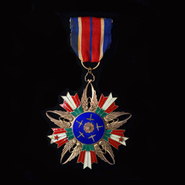 Very Rare WWII Chinese Air Force Order of Rejuvenation, II Class with Ribbon