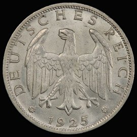MS64 1925-A GERMANY Weimar Republic, Silver mark