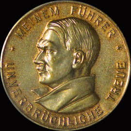 SP63 1934  Germany Third Reich NSDAP Medal, C-63, Gold Gilted Bronze