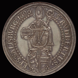 MS62 1696/4 Austria Salzburg Johann Ernst Silver Taler