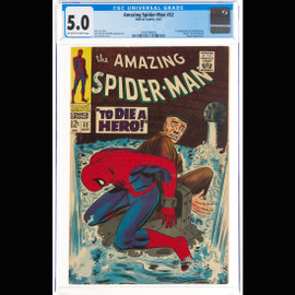 VG/FN 5.0 Off-white to white pages (Marvel, 1967) The Amazing Spider-Man #52