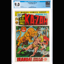 CGC VF/NM 9.0 White pages (Marvel, 1971)  Astonishing Tales #9