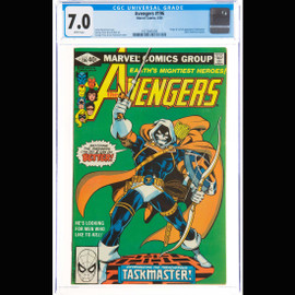 CGC FN/VF 7.0 White pages (Marvel, 1980) The Avengers #196