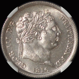 NGC MS64 1816 Great Britain George III Silver 1 Shilling