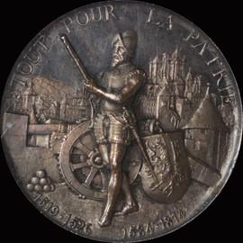 NGC MS62 1887 Switzerland Silver Shooting Fest Medal Geneva,R-628B, 45mm